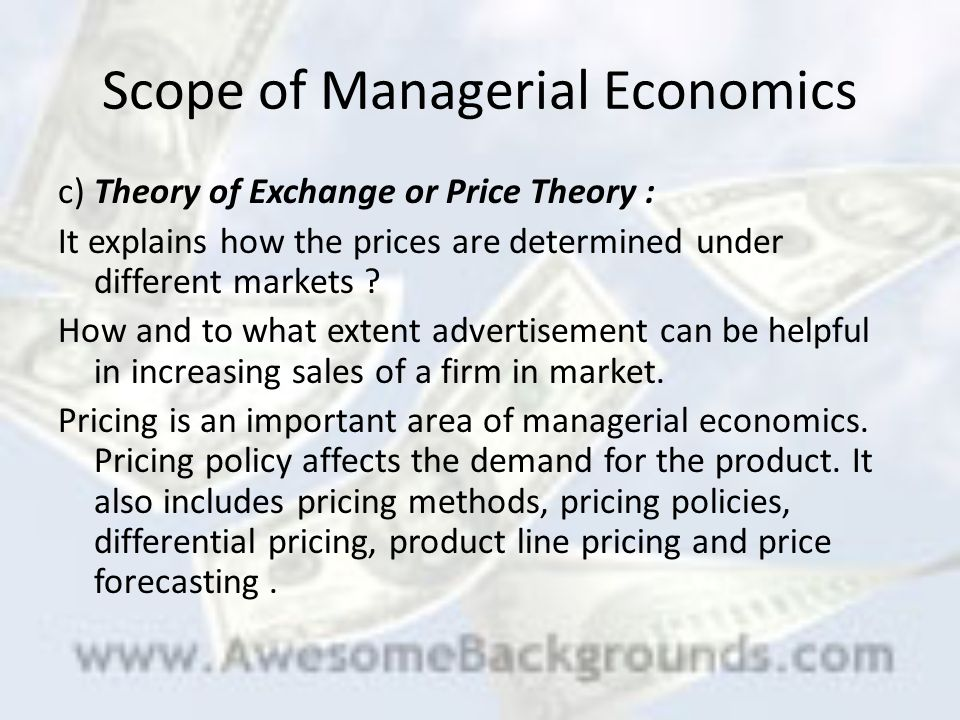 nature and scope of managerial economics Managerial economics is a key branch of economics at graduate level this is  basically  the nature and scope of managerial economics.