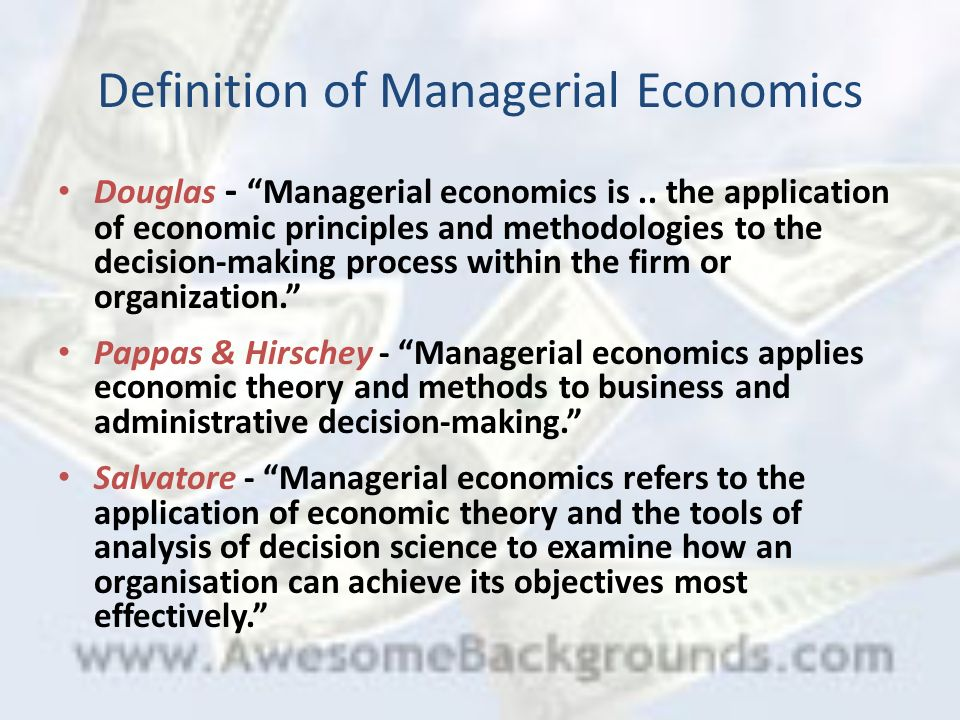 Nature of Managerial Economics