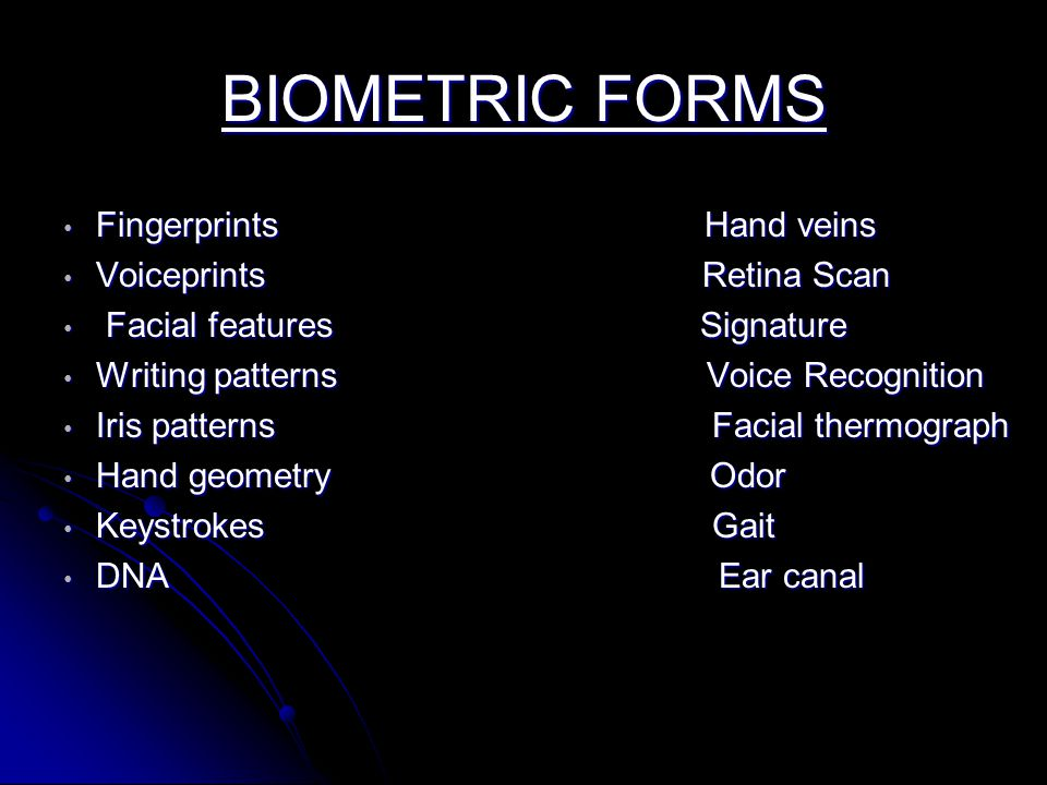 "biometrics hand and fingerprints The term ""biometrics"" is  • there is also evidence that fingerprints were used as a person's mark as  first systematic capture of hand images for."