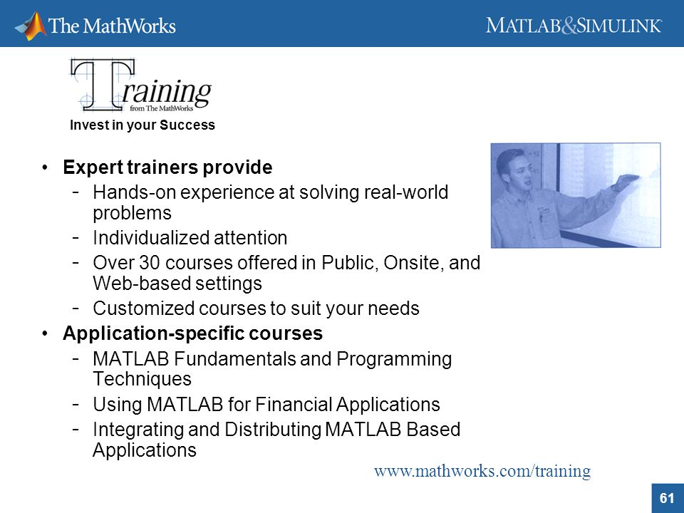 advanced financial analysis and modelling using matlab ppt mathworks com training expert trainers provide
