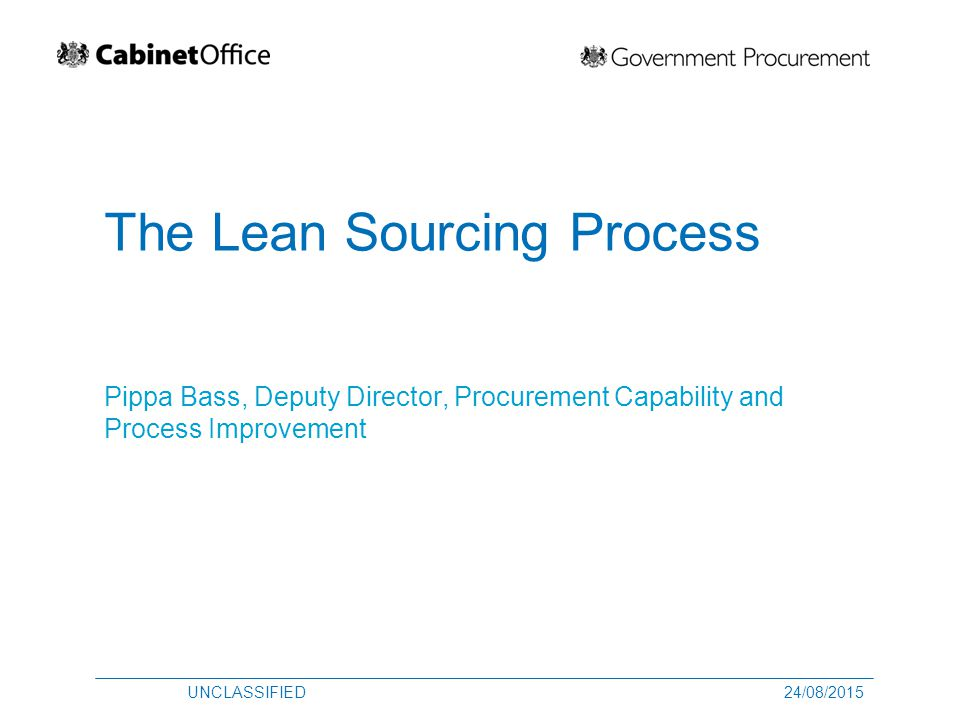 The Lean Sourcing Process