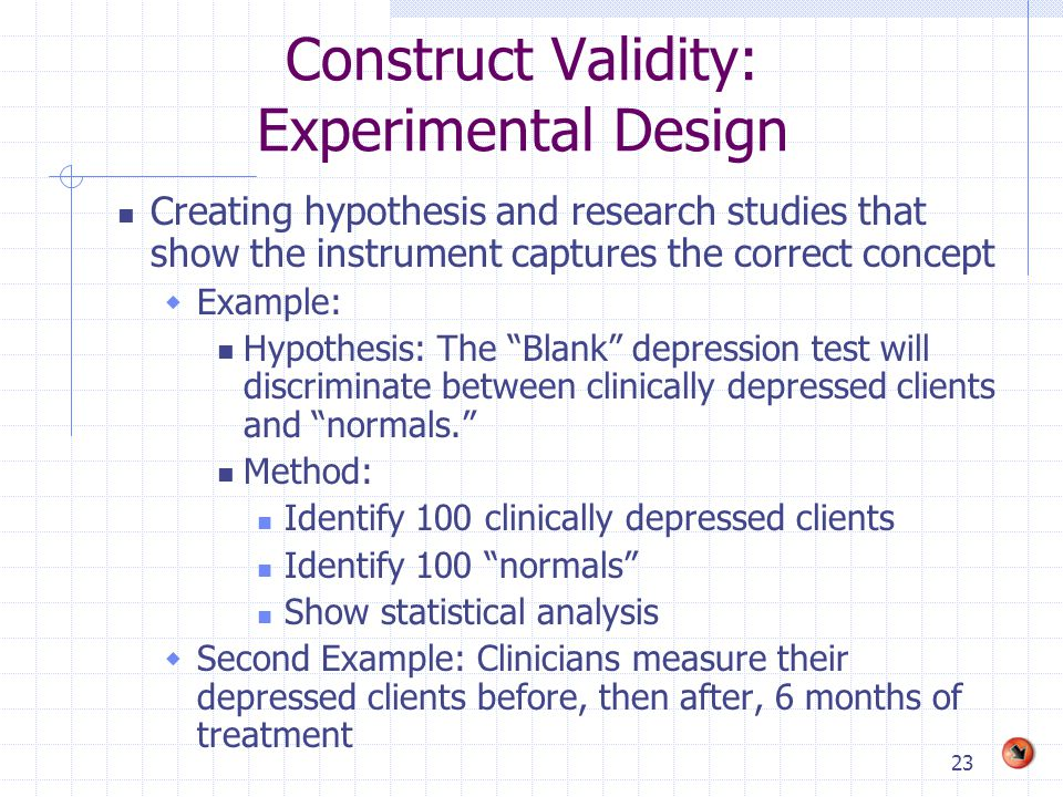 Example of validity in research