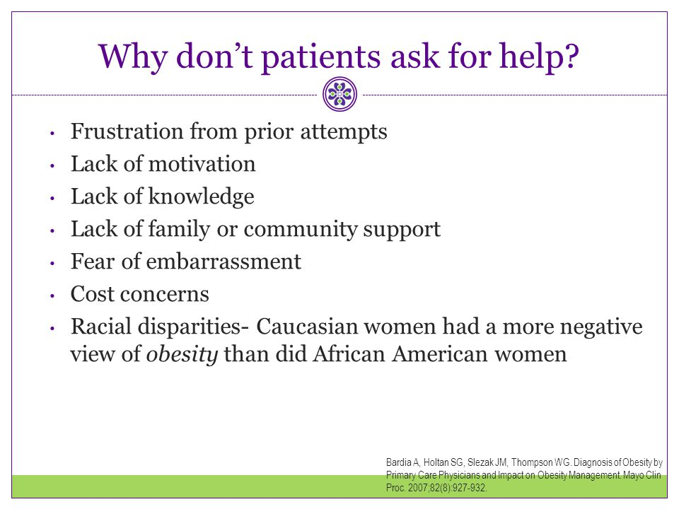 Why don't patients ask for help