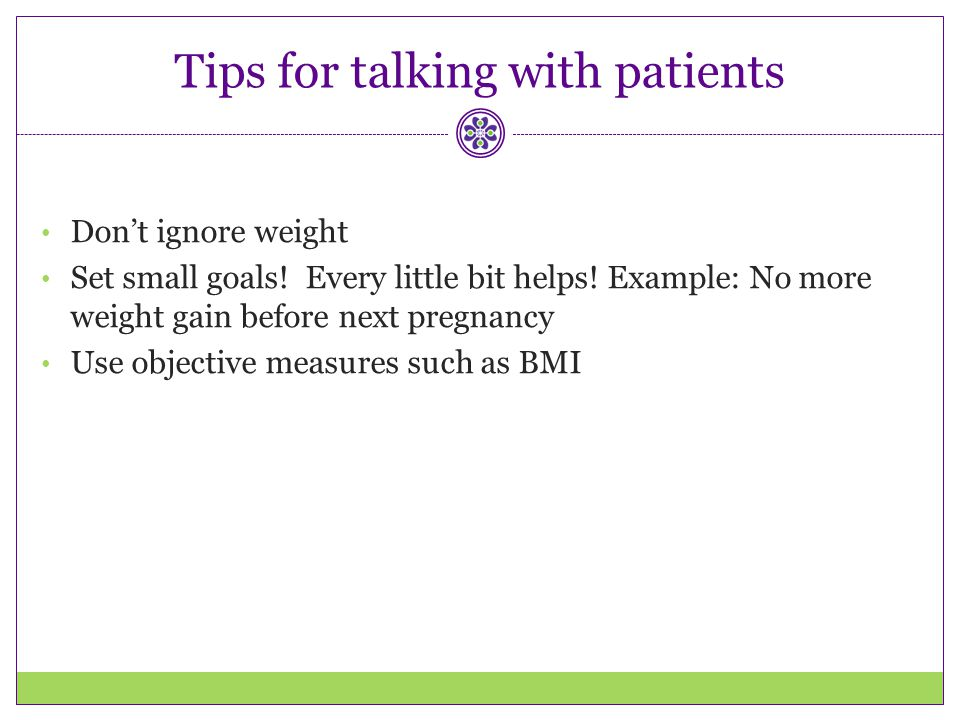 Tips for talking with patients