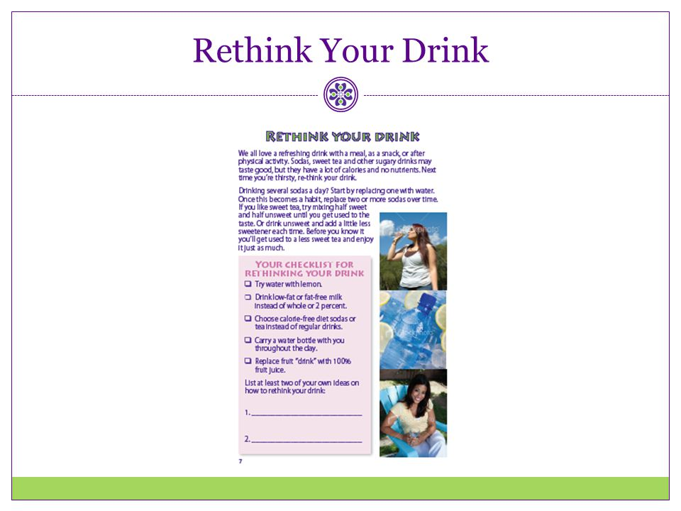 Rethink Your Drink Again, help providers think about how they could use this booklet with their patients.