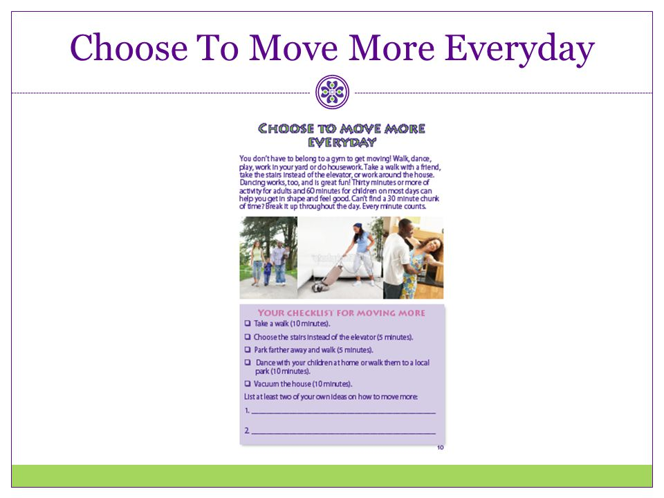 Choose To Move More Everyday