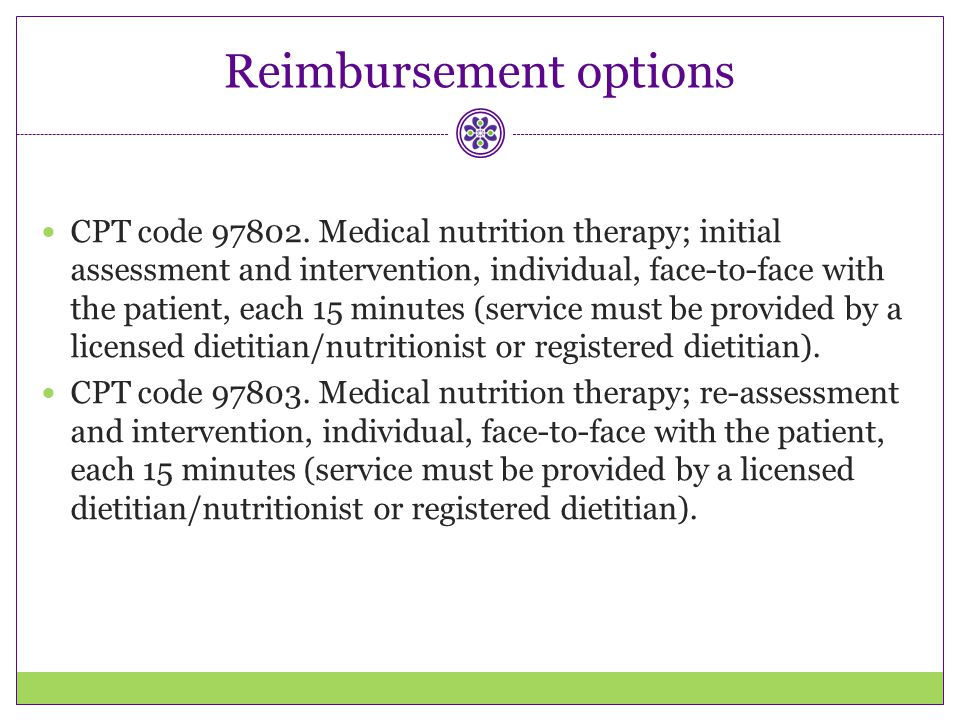 Reimbursement options