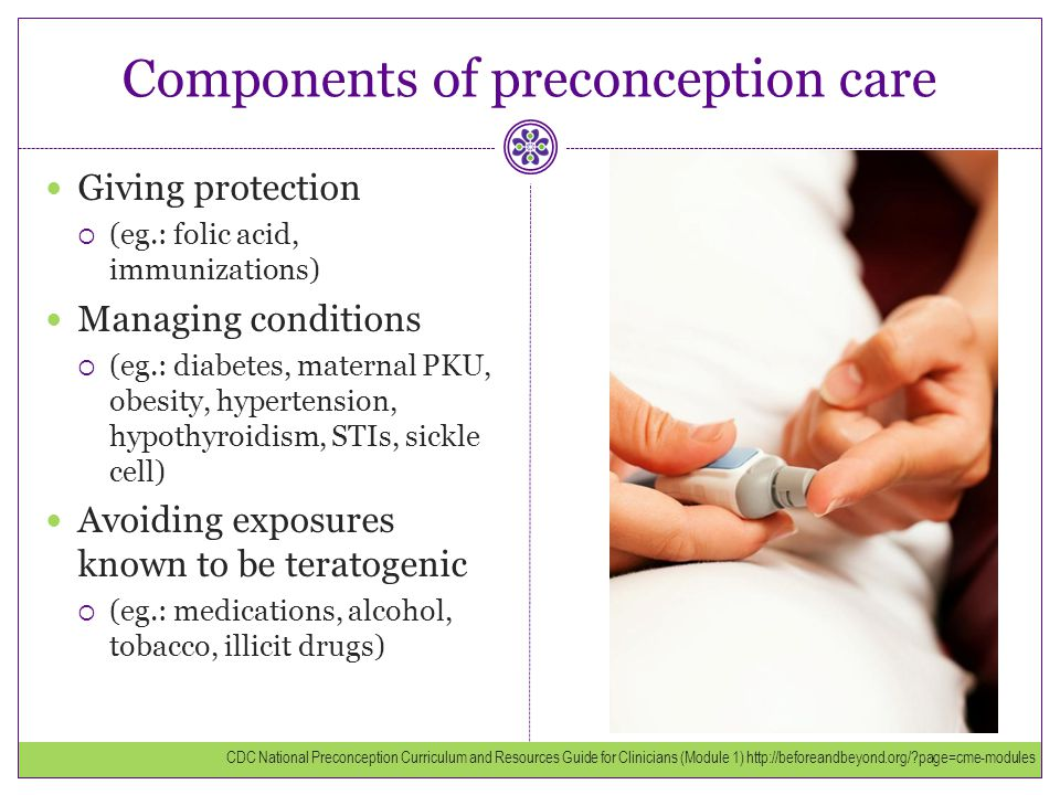Components of preconception care