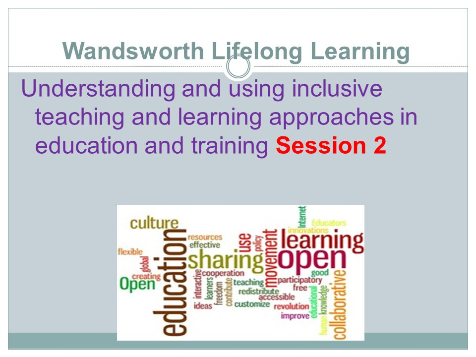 cttls understanding inclusive learning and teaching Understanding and using inclusive teaching and learning approaches in education and training 11 inclusive learning is about recognising that all your students have the right to be treated equally and fairly, have the same access to all products, services and have the opportunity to be involved and included.