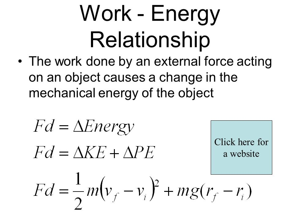 work and energy relationship lab