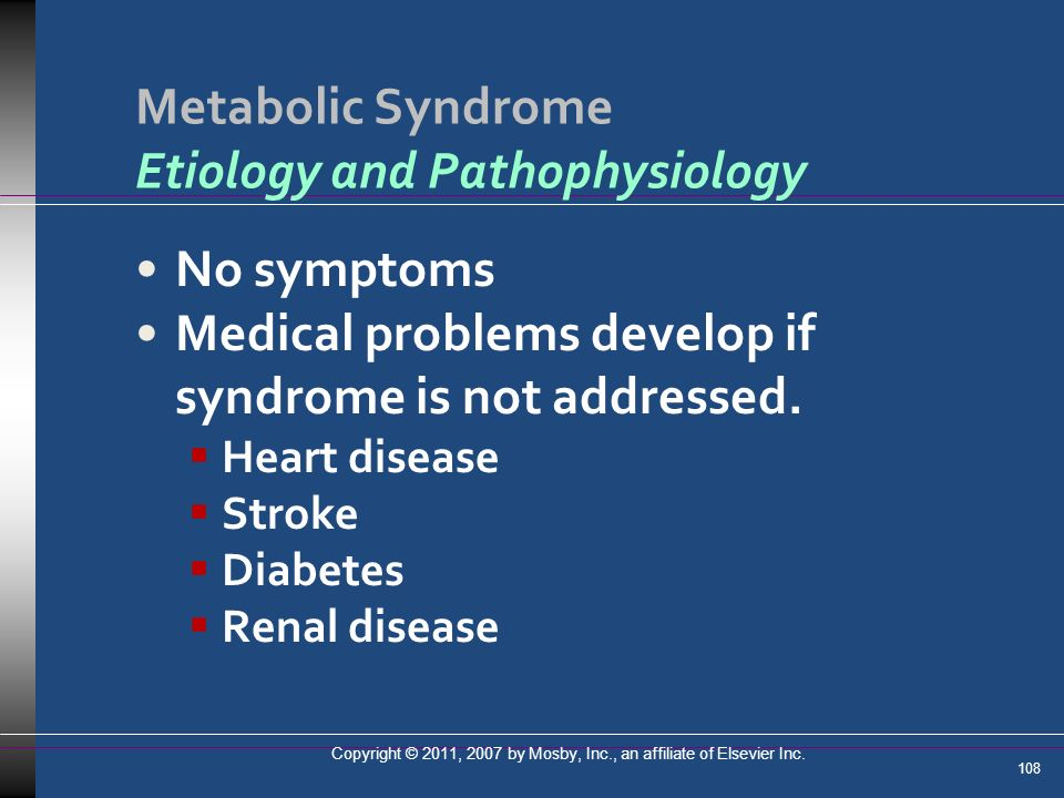 Metabolic Syndrome Etiology and Pathophysiology