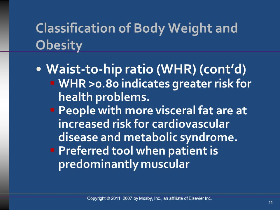 Classification of Body Weight and Obesity