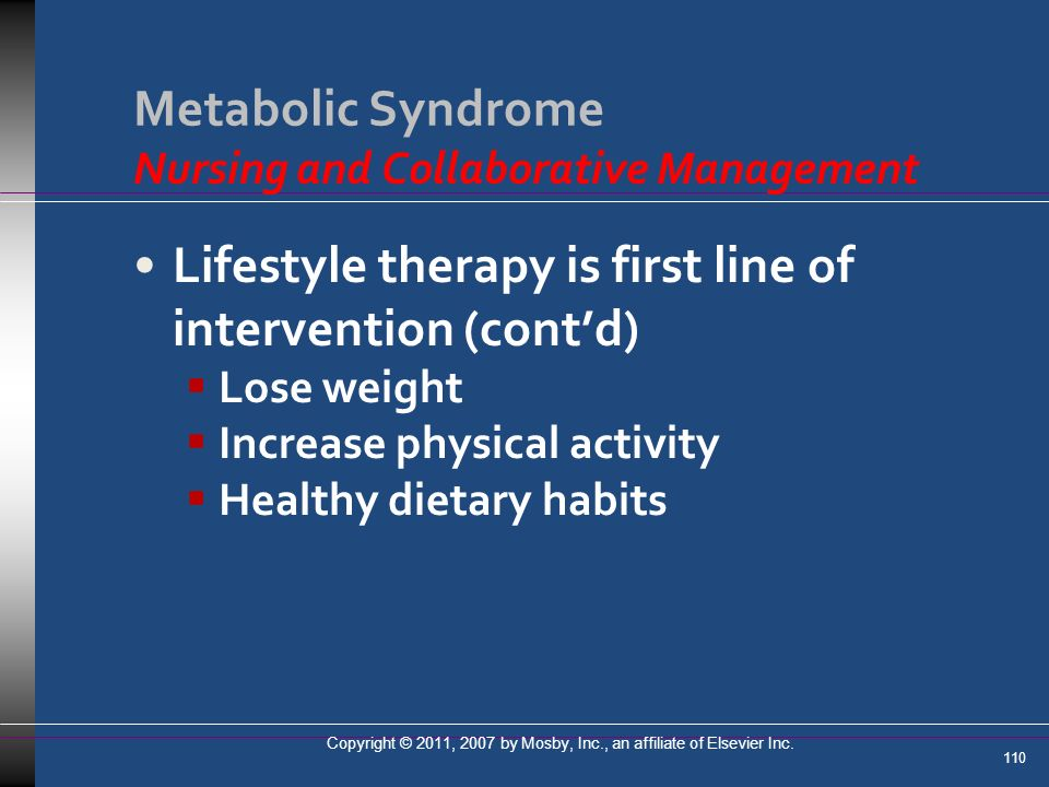 Metabolic Syndrome Nursing and Collaborative Management