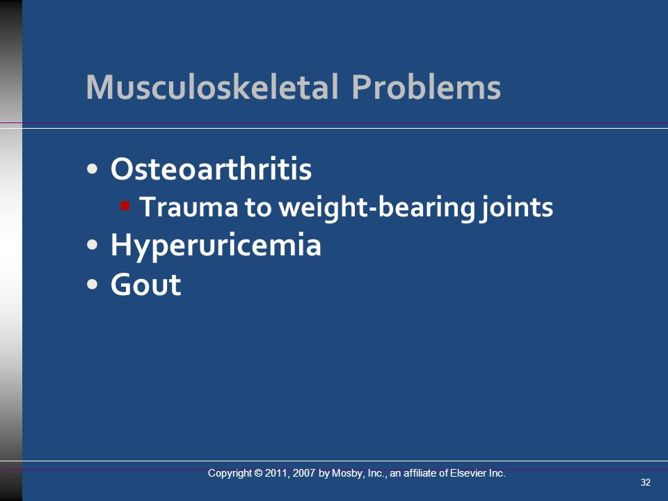 Musculoskeletal Problems