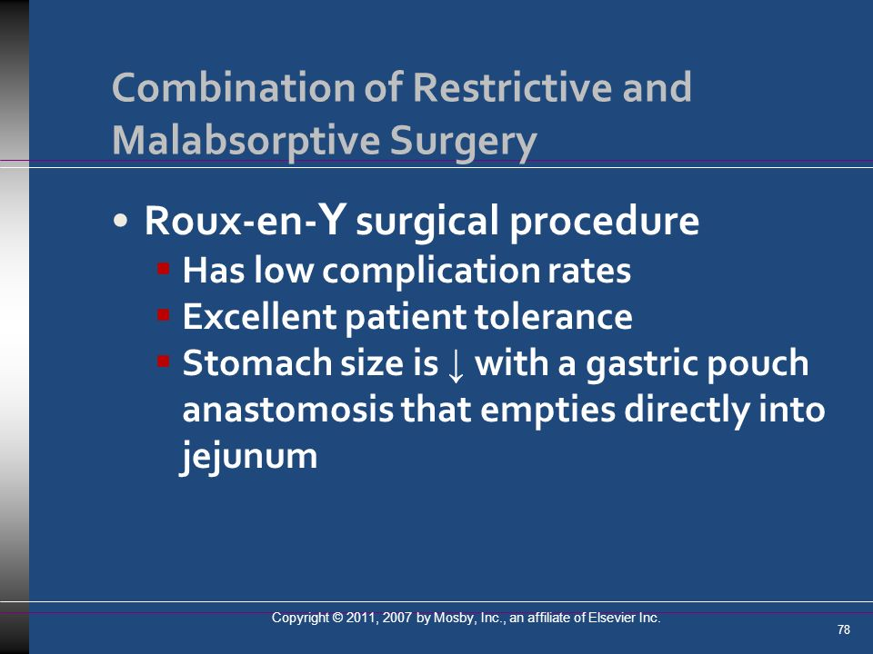 Combination of Restrictive and Malabsorptive Surgery