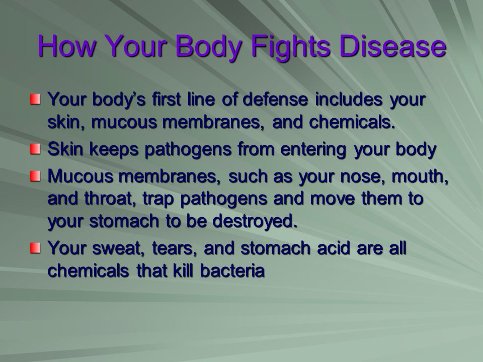 How Your Body Fights Disease