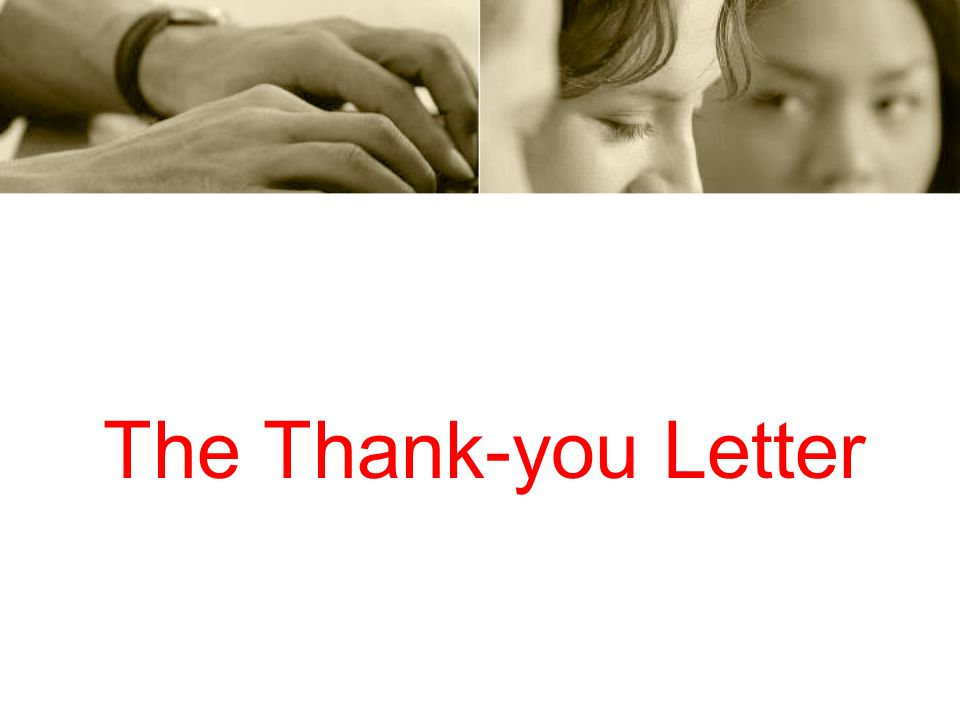 The Thank-you Letter