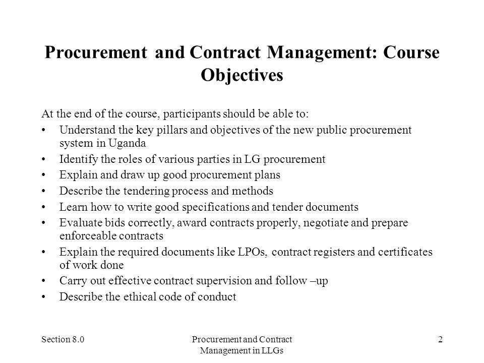 PROCUREMENT AND CONTRACT MANAGEMENT - ppt video online download