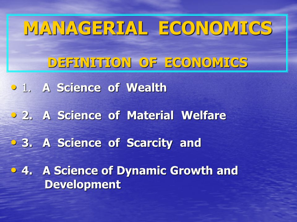 managerial economics definition of economics ppt download. Black Bedroom Furniture Sets. Home Design Ideas