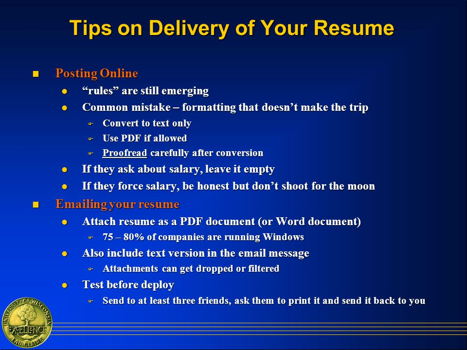 resume rules and tips