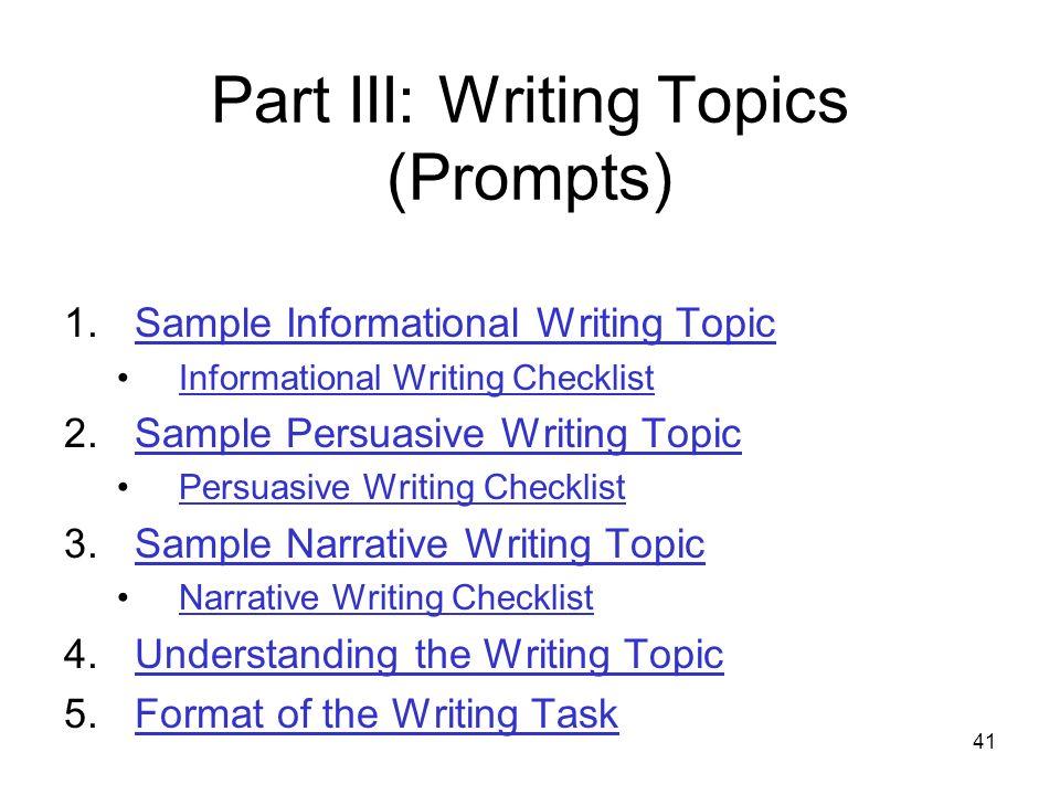 grade 5 writing topics