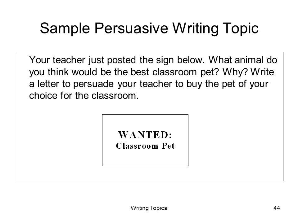 persuasive speech topics about animals