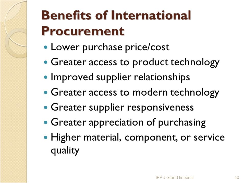 international procurement Company international paper is one of the world's leading producers of fiber-based packaging, pulp and paper, with 52,000 employees operating in more than 24 countries.