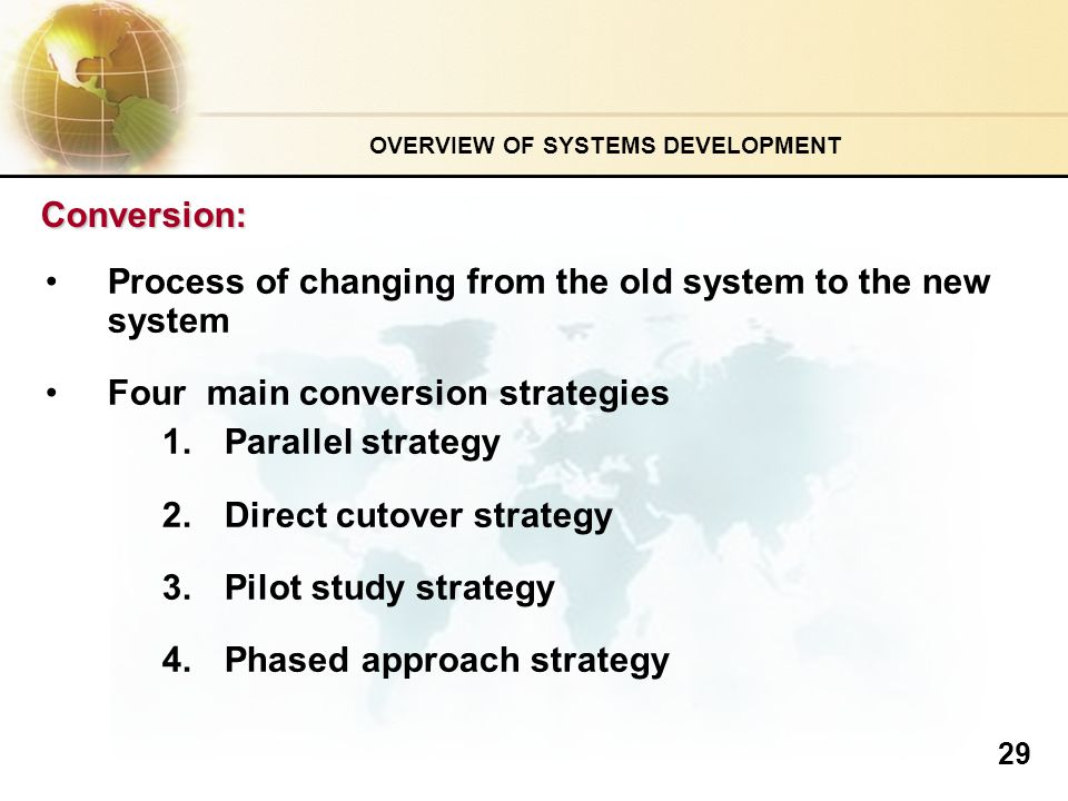 Direct cutover conversion strategy