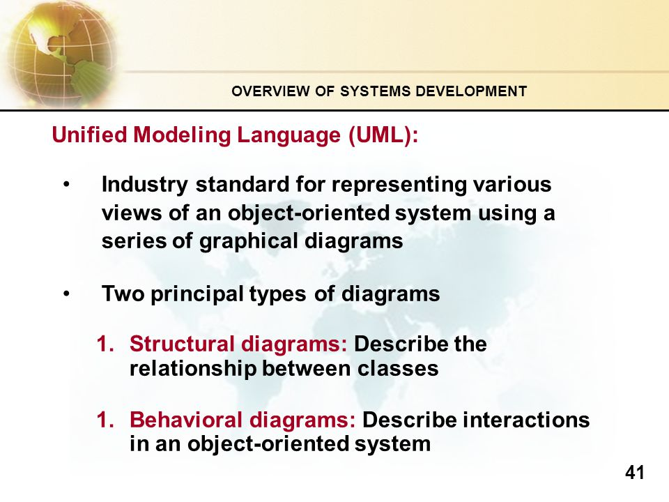 advantages and disadvantages of using unified modeling language as a standard for object oriented pr