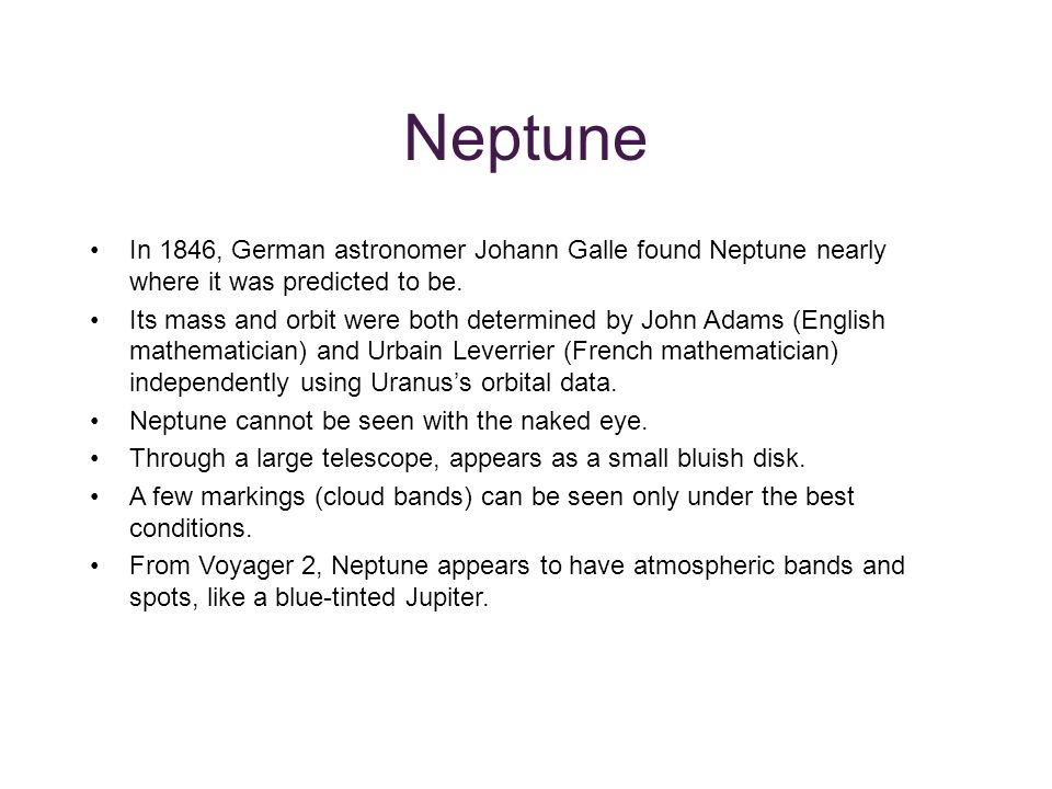 characteristics of the jovian or jupiter like planets uranus neptune and saturn The many mysteries of uranus while all the other planets spin like tops around the sun, uranus lies on like jupiter and saturn, uranus's atmosphere is.