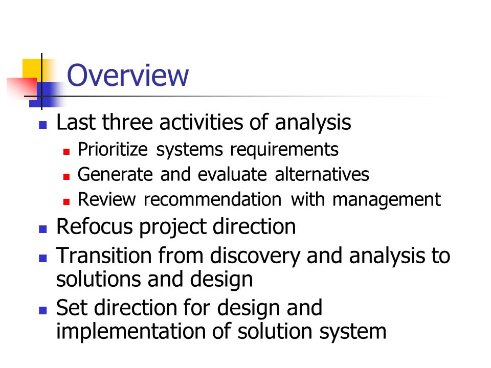 System analysis and design midterm