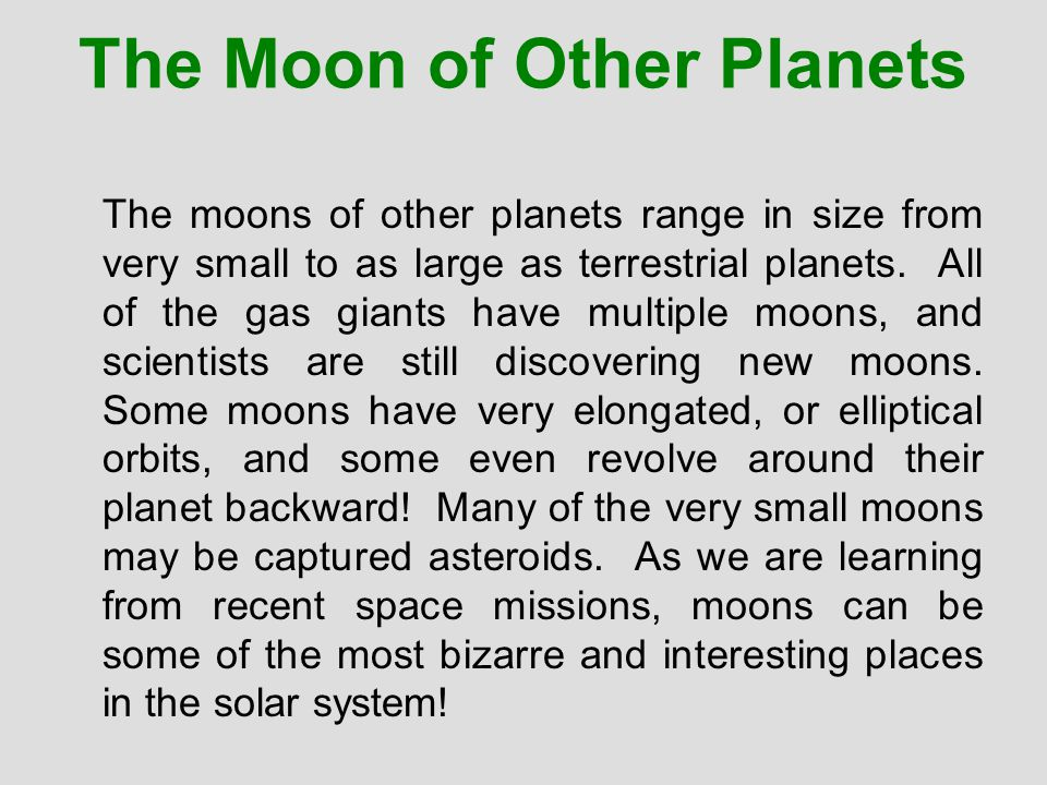 CHAPTER 20 A Family of Planets. - ppt download