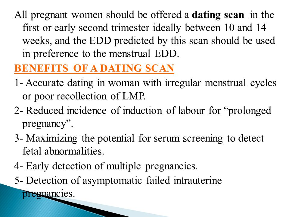 Accurate dating scans pregnancy