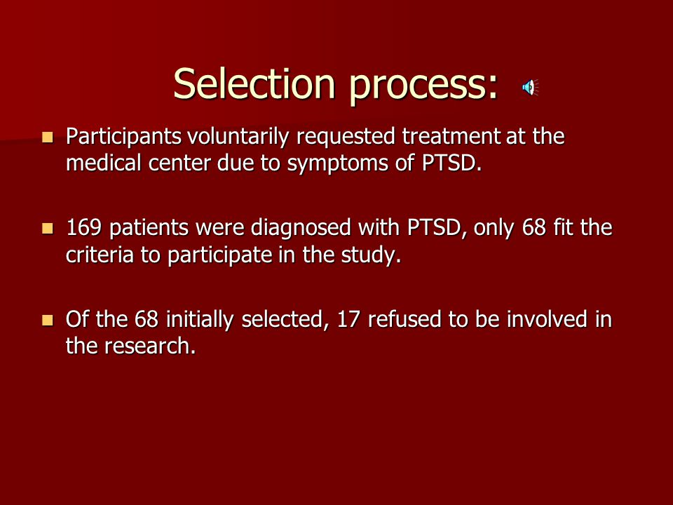 psychoeducation effectiveness on military with ptsd Empirical studies: group cpt for military personnel experiencing ptsd   15  with unknown effects (psychoeducational group, etc) significant.