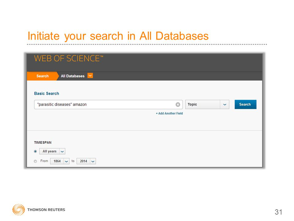 Initiate your search in All Databases