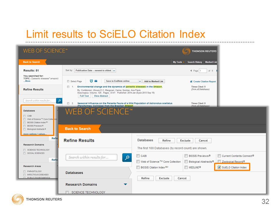 Limit results to SciELO Citation Index