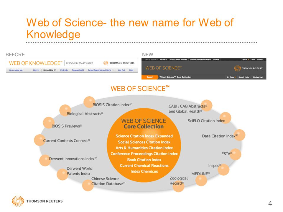 Web of Science- the new name for Web of Knowledge