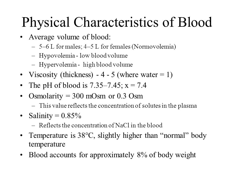 Characteristics of cells of the human body