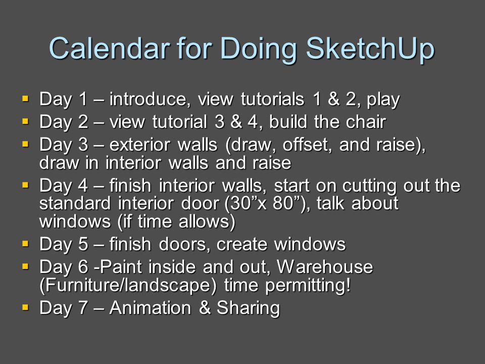 Using google sketchup in the classroom ppt video online for Google paint online