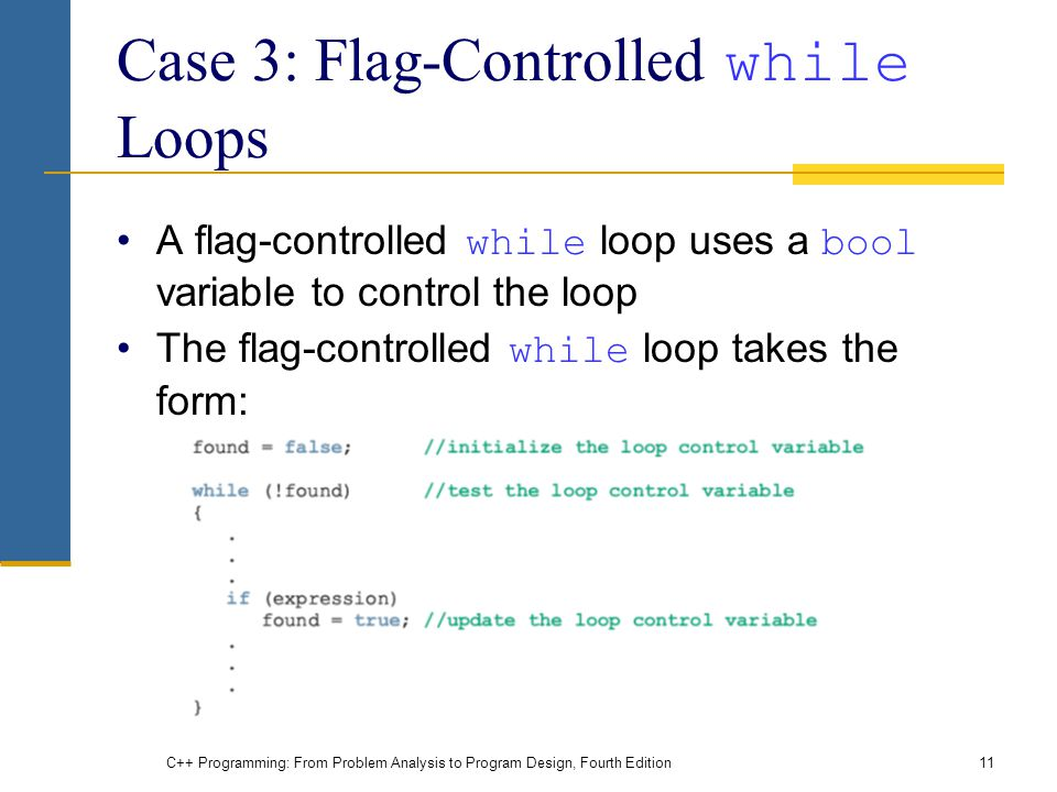 Case 3: Flag-Controlled while Loops