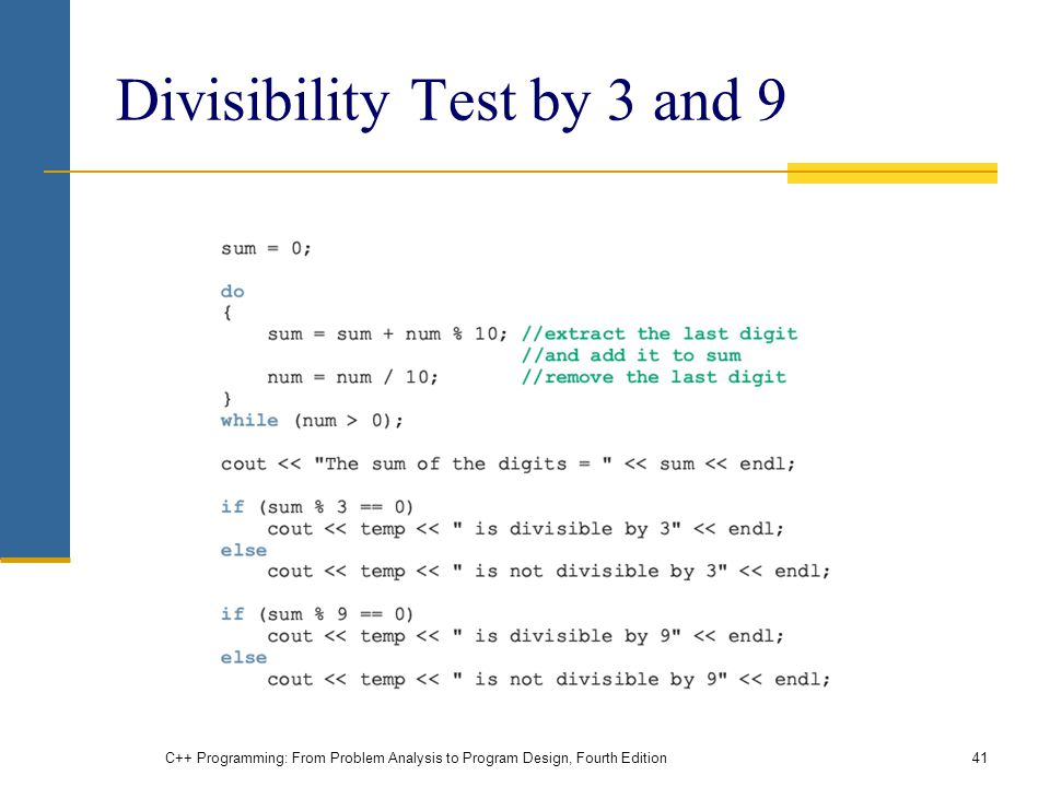 Divisibility Test by 3 and 9