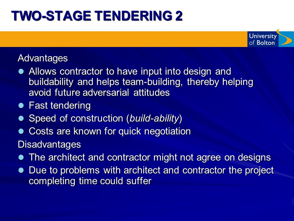 advantages and disadvantages of design and build method construction essay Design bid build design build construction  project delivery method analysis getting the best value for your construction  disadvantages • newer delivery method.