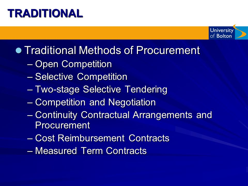 tendering and methods The core principles on an efficient public procurement framework the principles apply not only to the tendering quality assurance systems and methods for.