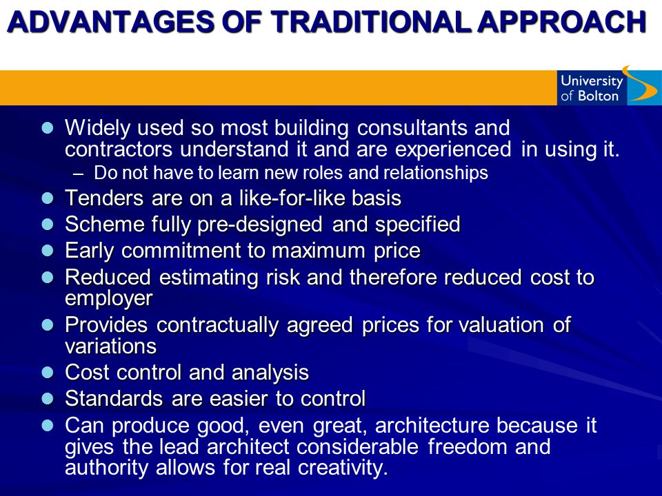 advantages of traditional costing methods The advantages and disadvantages of traditional absorption costing techniques essay through the years when it comes to planning managers has developed techniques and methods of forecasting future costs.