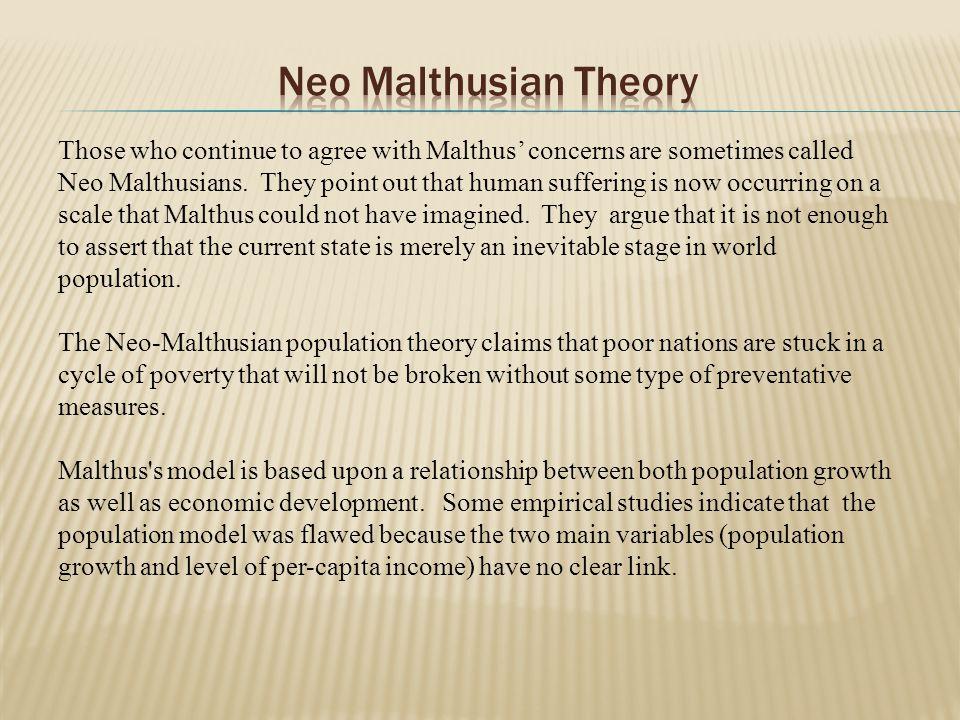 neo malthusian view