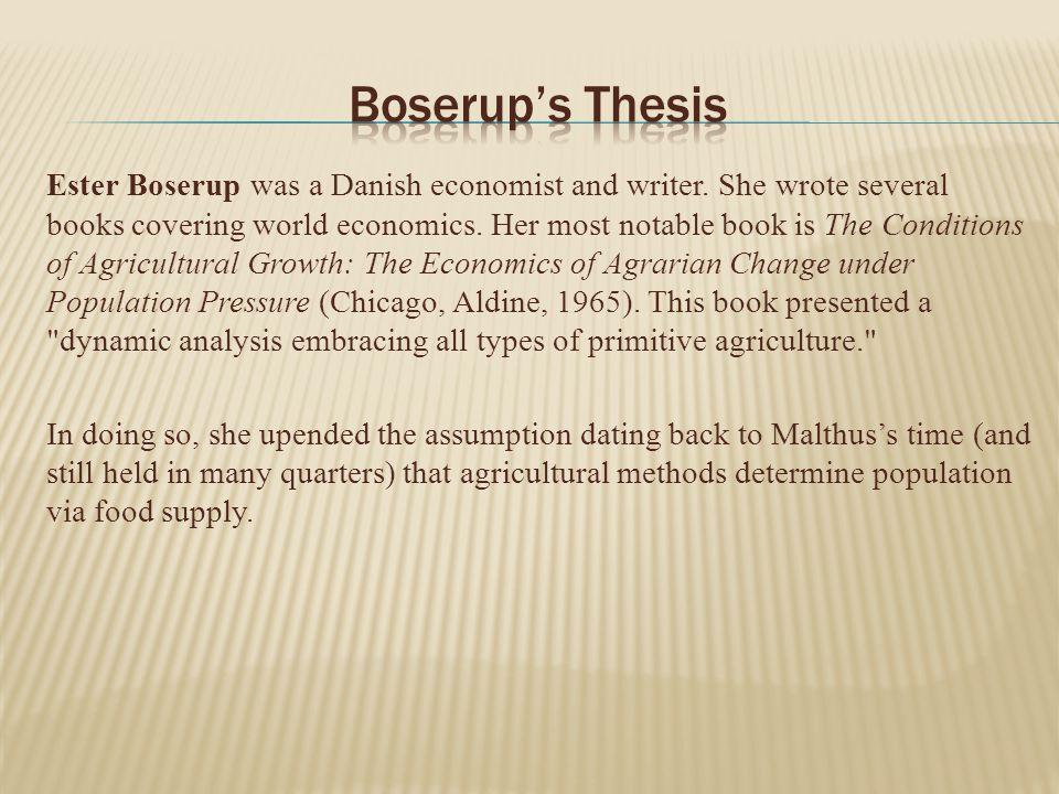 ester boserup thesis Ester boserup thesis, homework academic writing service.