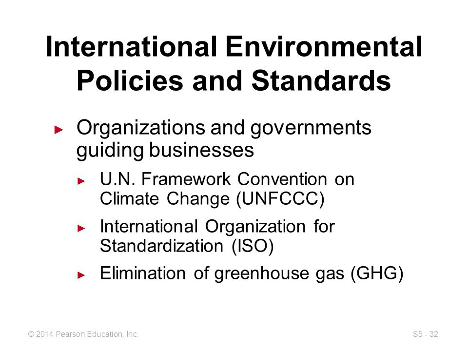International environmental policy