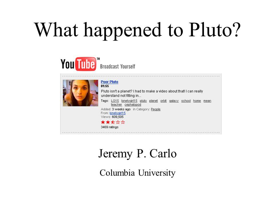 Jeremy P. Carlo Columbia University