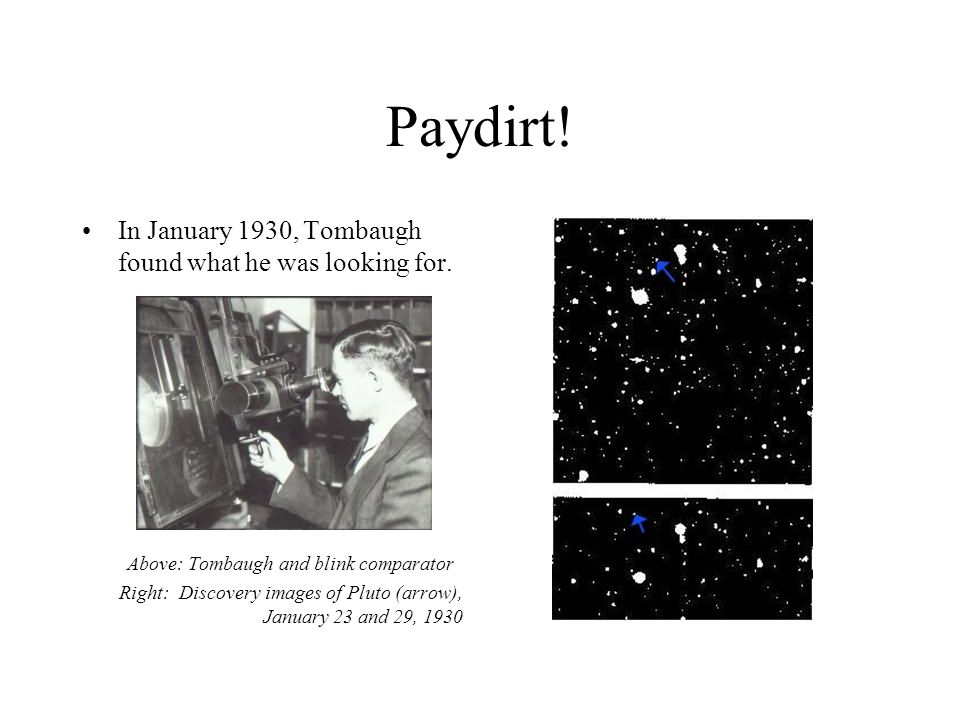 Above: Tombaugh and blink comparator