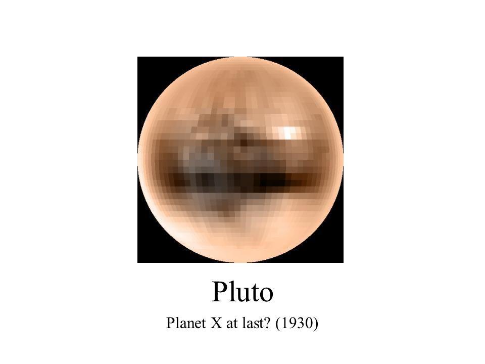 Pluto Planet X at last (1930)